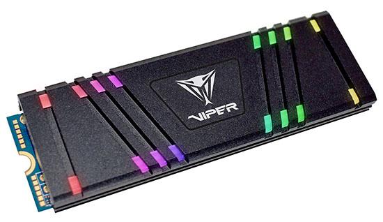 Patriot Viper VPR100 : des SSD M.2 NVMe pour les fanas de RGB