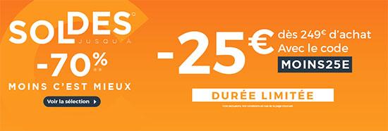 Soldes : 25€ de remise chez CDiscount dès 249€ d'achats !