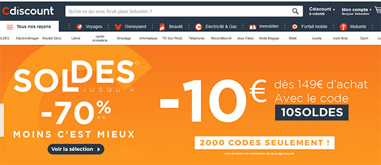 Soldes : 10€ de remise chez CDiscount dès 149€ d'achats !