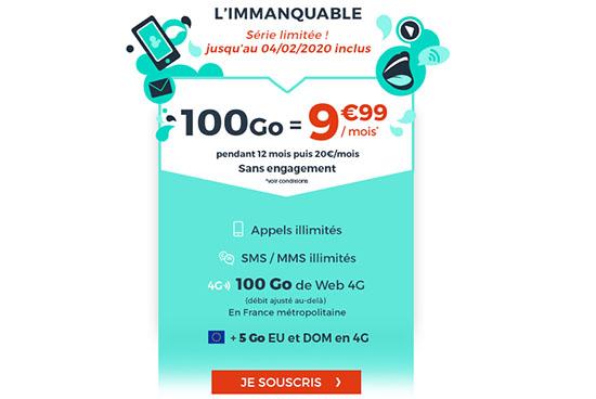 Bon Plan : le forfait 4G de 100 Go à 9,99€ chez CDiscount Mobile
