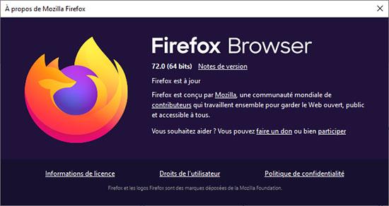 Mozilla publie la version 72.0 du navigateur Firefox