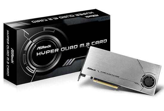 ASRock dévoile une carte d'extension PCI Express 4.0 qui peut accueillir 4 SSD M.2. NVMe