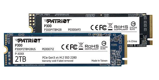 Un nouveau SSD M.2. NVMe est annoncé chez Patriot : le P300 !