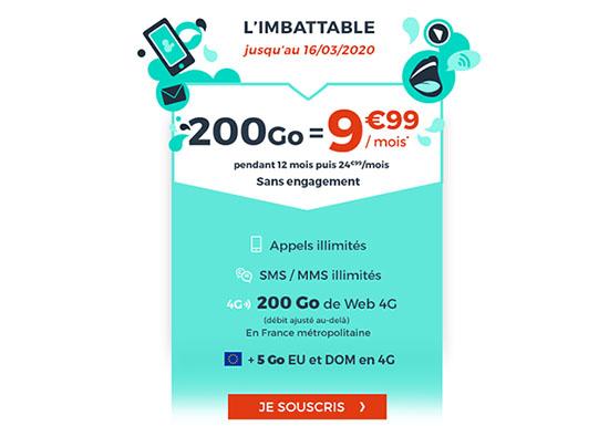 Bon Plan : un forfait 4G avec 200 Go de DATA à 9,99€/mois chez CDiscount Mobile (maj)