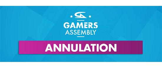 Coronavirus : la Gamers Assembly 2020 est également annulée