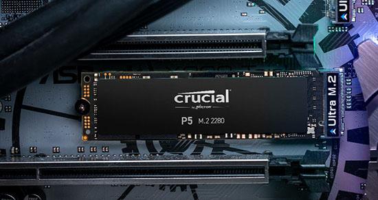 Des SSD M.2. NVMe performants chez Crucial : les P5 !