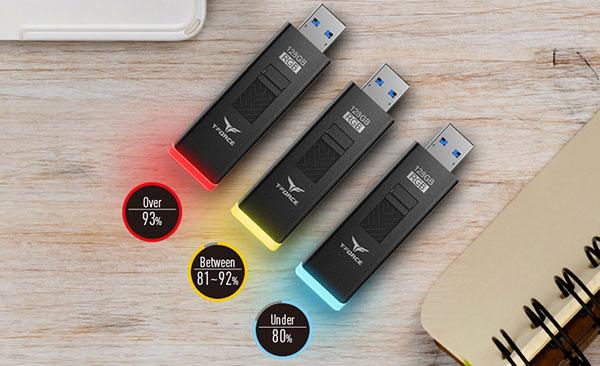 Une clé usb de 128 Go avec éclairage RGB chez Team Group (maj)