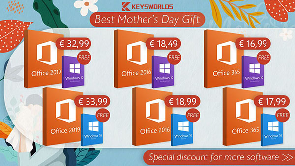 Promotions Keysworlds pour la fête des mères : obtenez Windows 10 gratuitement ! Ne manquez pas ça !