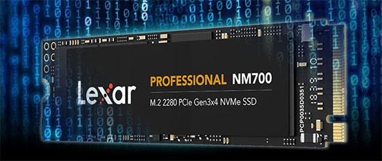 Un nouveau SSD M.2. NVMe pointe le bout de son museau chez Lexar