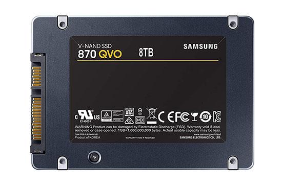 Samsung officialise sa gamme de SSD 870 QVO en mémoire QLC