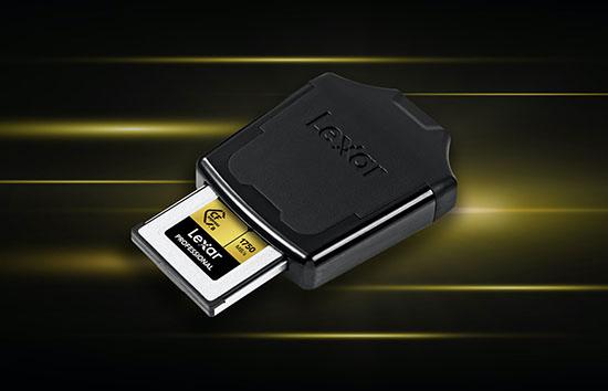 Un premier lecteur de cartes mémoire CFexpress chez Lexar