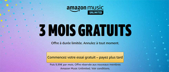 Bon Plan : Amazon Music Unlimited gratuit pendant 3 mois !