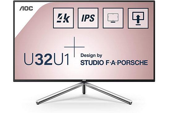 AOC U32U1 : un moniteur 32″ design et bien équipé (IPS, 4K UHD, HDR600)
