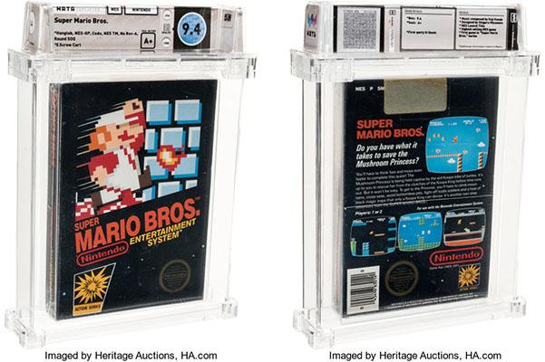 Le célèbre jeu vidéo Super Mario Bros (Nintendo NES), neuf et sous scellé, vient d'être vendu 114.000 dollars aux enchères