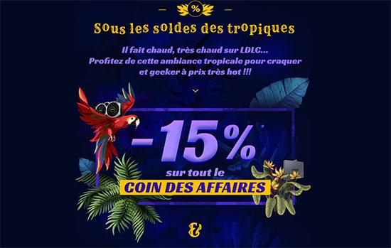 Soldes : 25% sur le coin des affaires LDLC