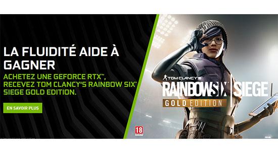 NVIDIA offre Tom Clancy's Rainbow Six Siege avec ses GeForce RTX