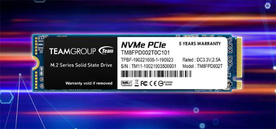 MP33 Pro : un SSD M.2. NVMe signé Team Group