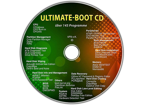 Ultimate Boot CD en version 3.4