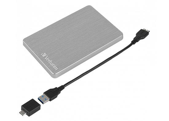 Un nouveau disque dur portable en aluminium chez Verbatim : le Store'n'Go Alu Slim