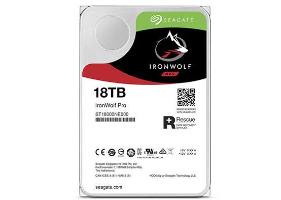 Seagate ajoute une version 18 To à sa gamme de disques durs IronWolf Pro destinée aux NAS (maj2)