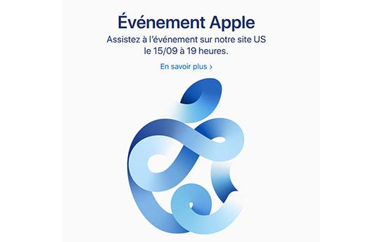Apple annonce une nouvelle keynote pour la semaine prochaine (maj)