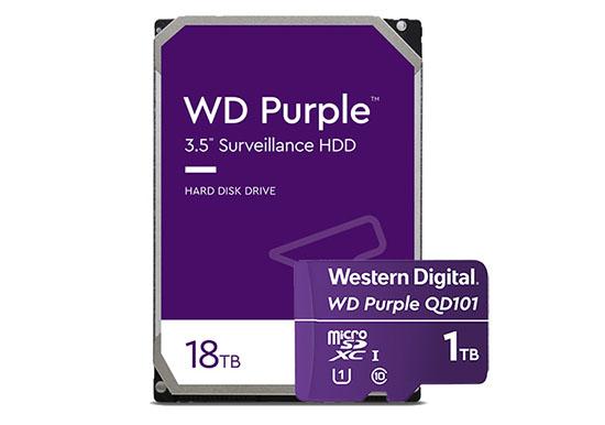 La famille WD Purple s'agrandit avec un disque dur de 18 To et une micro SDXC de 1 To