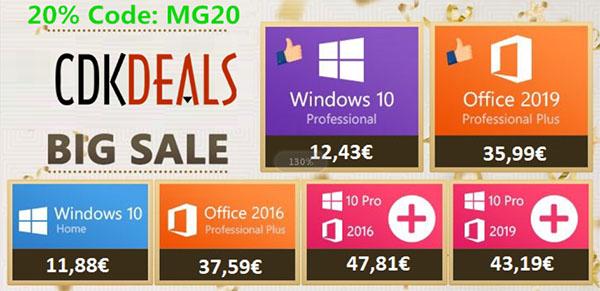 Obtenez une clé de Windows 10 Pro à seulement 12,43€ sur CDKDeals