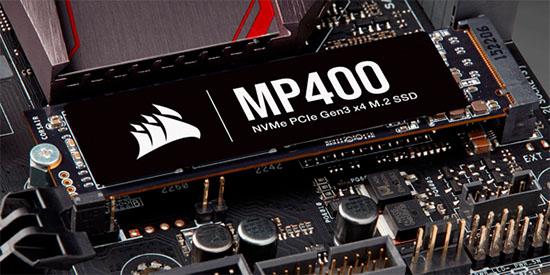 Corsair dévoile le MP400 : un SSD M.2. NVMe avec 1 à 8 To de stockage