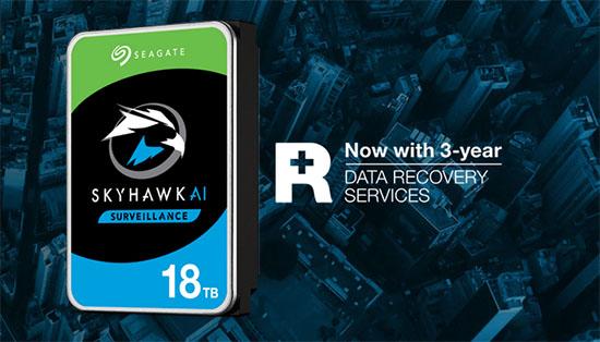 Seagate offre une version 18 To à sa gamme SkyHawk AI dédiée à la vidéo surveillance