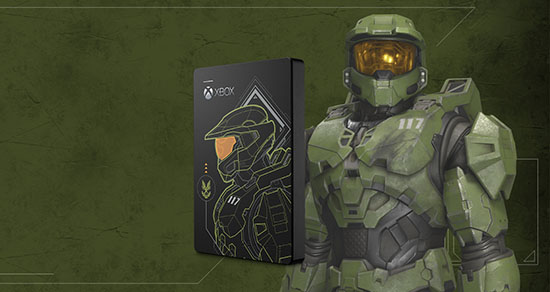 Un disque dur à l'effigie de Halo: Master Chief Limited Edition