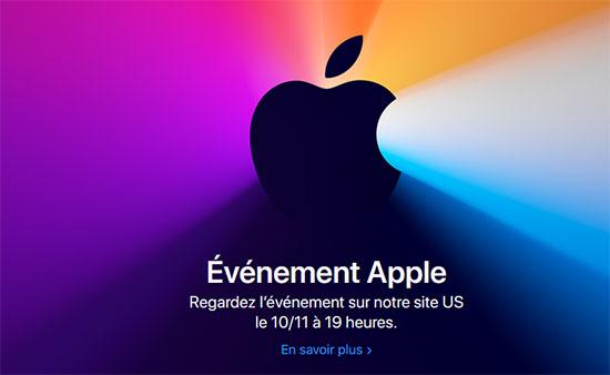 Une nouvelle keynote est prévue chez Apple la semaine prochaine