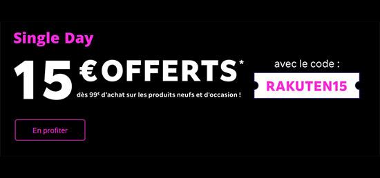 Bon Plan : Rakuten vous offre 15€ de remise dès 99€ d'achats aujourd'hui