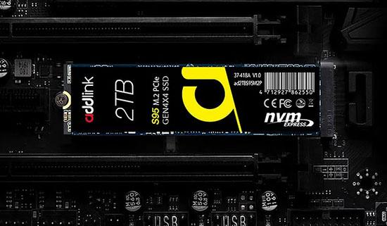 Addlink lance le S95 : un SSD M.2. NVMe qui carbure à 7.150 Mo/s en lecture et à 6.835 Mo/s en écriture