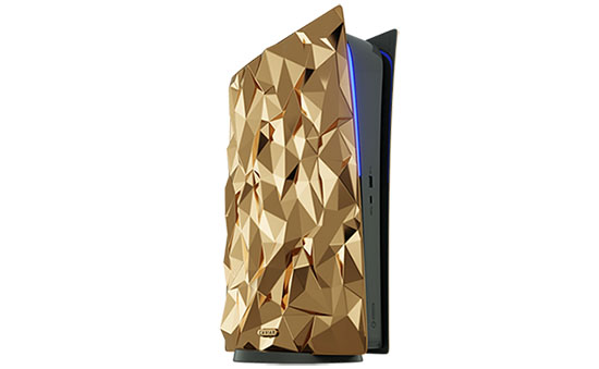 "PS5 Golden Rock : une Playstation 5 ""bling bling"" en or 18 carats à 499.000 dollars (maj)"