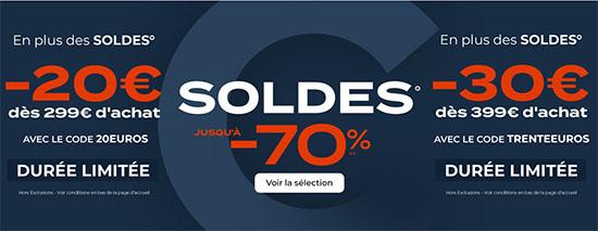 Soldes : CDiscount vous offre 20€ ou 30€ de réduction