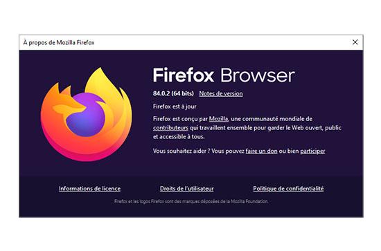Mozilla corrige un problème de sécurité et dévoile Firefox 84.0.2