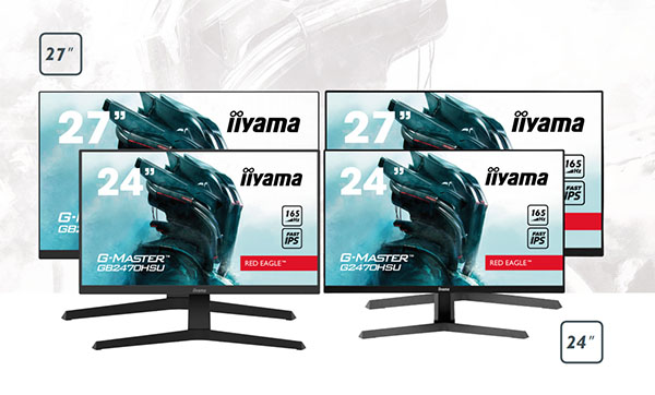Deux nouveaux écrans gaming chez IIyama : le GB2470HSU (24″) et le GB2770HSU (27″)