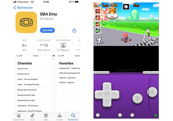 GBA Emu : un émulateur Game Boy Advance débarque sur l'App Store d'Apple (maj : retiré !)