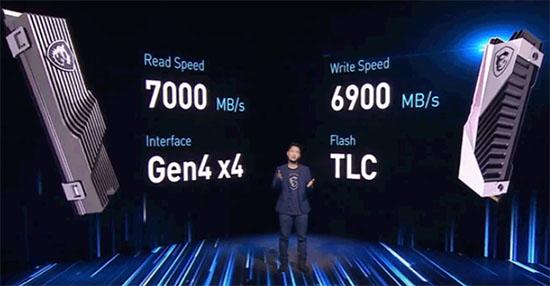 MSI annonce deux SSD M.2. NVMe en PCI Express 4.0 4x