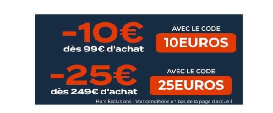 Soldes : 10€ ou 25€ de réduction chez CDiscount !