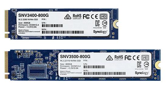 Synology annonce une version 800 Go de ses SSD M.2 NVMe
