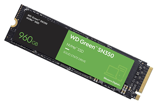 Un nouveau SSD M.2. NVMe chez Western Digital : le WD Green SN350