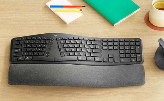 Logitech dévoile le ERGO K860 : un clavier ergonomique sans fil