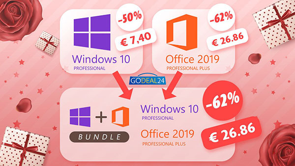 Promo pour la journée de la femme : achetez vos logiciels en bundle et obtenez Windows 10 Pro gratuitement