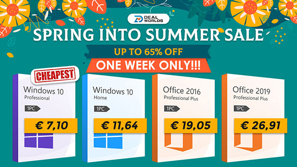 Promotions sur Dealworlds : Windows 10 Pro à seulement 7,10€