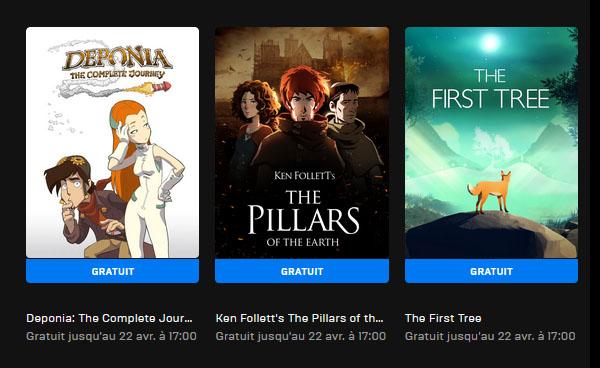 Cette semaine : 3 jeux gratis sur l'Epic Games Store !