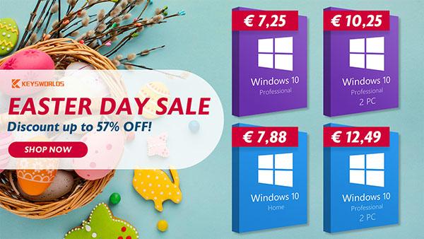 Promo spéciale Pâques : le prix de Windows 10 tombe à 5€ et Office 2019 avec 57% de réduction