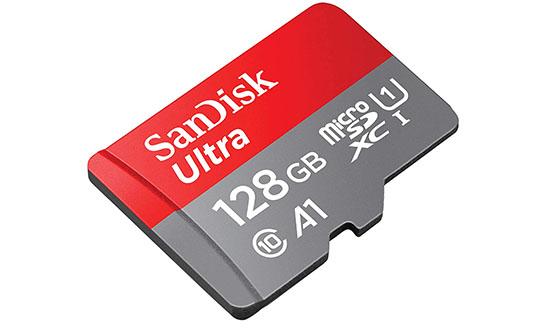 Bon Plan : les cartes mémoires microSDXC SanDisk Ultra 128 Go (17€) et 200 Go (27€)