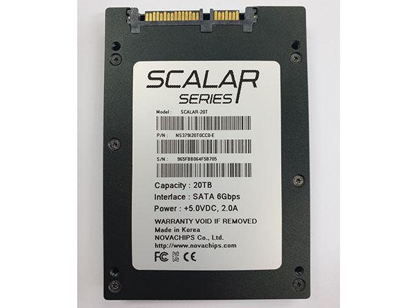 Novachips Scalar-20t : un SSD de 20 To au format 2,5 pouces