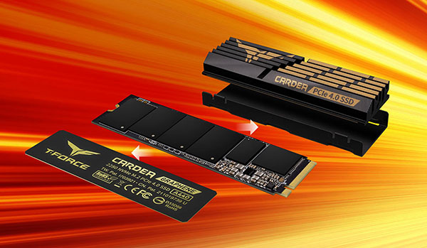 T-Force Cardea A440 : un SSD M.2. NVMe PCIe 4.0 très performant livré avec deux dissipateurs (maj)